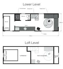 loft houses plans tiny house floor plan loft style cottage plans