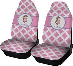 diamond print w princess car seat covers set of two personalized