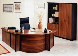 wood office cabinet. Inspirational Curved Office Desk Furniture For Modern Office: Real White Theme Wall With Wood Cabinet