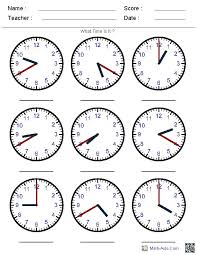 pre k clocks worksheets | Generate Random Clock Worksheets for Pre ...