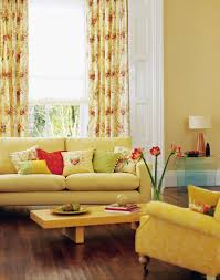 Yellow Living Room Chairs Living Room Yellow Painted Wall With White Leather Cushion Also