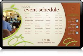 Template For A Program For An Event Digital Signage Integration Event Management Interfaces