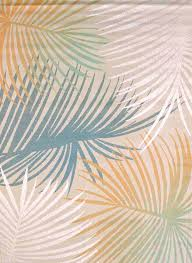 delectably yours com palm leaves blue tropical coastal beach rug by united weavers regional