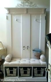 Coat Rack With Bench Seat Delectable Storage Benches With Coat Rack L32 Wall Mounted Coat Rack With