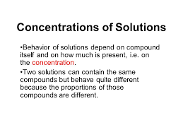 Concentration Of Solutions Concentrations Of Solutions Ppt Download