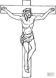 cross pictures to color.  Cross Click The Jesus On Cross Coloring Pages To View Printable Version Or  Color It Online Compatible With IPad And Android Tablets Intended Pictures To Color S