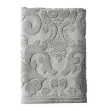 Light Gray Hand Towels Fleur Supima Cotton Light Gray Hand Towel