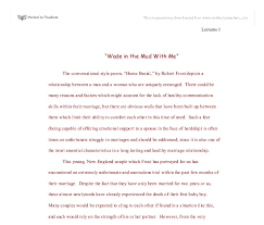 home burial by robert frost critical analysis gcse english  document image preview