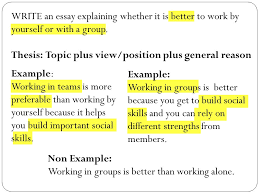 expository essay expository essay what is an expository essay  write an essay explaining whether it is better to work by yourself or a group