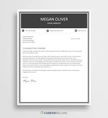 Word Cover Letter Template Free Free Cover Letter Template Megan Career Reload