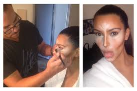 working with her celebrity makeup artist scott barnes kim posted on these photos on insram with caption