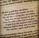 write a story on all that glitters is not gold