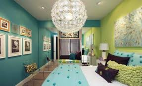 bedroom colors green. Design Ideas For Girls Bedroom Colors Ideas - Blue And Bright Lime  Green Bedroom T