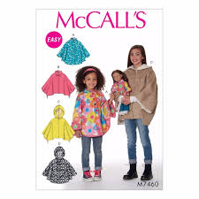 Mcalls Patterns Extraordinary McCall's Patterns M48 Children'sGirls'48 Dolls' Ponchos with