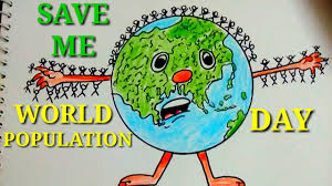 Easy And Creative Drawing Poster For World Population Day Save Earth