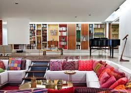 miller house and garden interior designed by alexander girard in 1953 girard s design included custom furniture seasonally rotating textiles