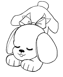 Small Picture Happy Cute Puppy Free Coloring Page Animal pages of
