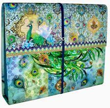 Punch Studio Magazine Holder Punch Studio Magazine File Holder Emerald Blue Peacock 100 eBay 14