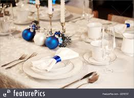 Christmas Table Setting Served Tables Christmas Table Setting Stock Picture I2376737 At