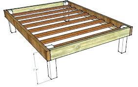 homemade wooden beds. Contemporary Wooden Homemade Wood Bed Frame  Queen Frames Throughout Homemade Wooden Beds