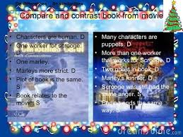 compare and contrast book from movie book compare and contrast book from movie book movie <ul><li>characters are