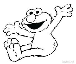 Elmo Coloring Pictures Cookie Monster Coloring Book Pages Child Free