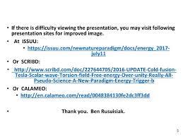 PPT - Cold fusion, Tesla, Scalar wave, Torsion field,
