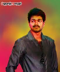 digital painting of tamil superstar vijay