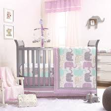 The Peanut Shell 3 Piece Baby Girl Crib Bedding Set - Little Peanut Lilac  and Gold