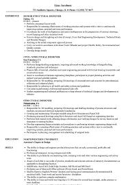 Resume Samples For Designers Structural Designer Resume Samples Velvet Jobs 13