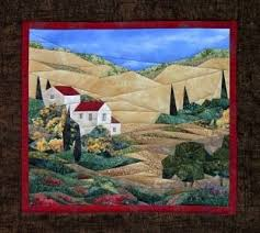 570 best Landscape quilts images on Pinterest | Landscapes, Cow ... & Wine Country Wall Quilt Pattern by England Design Studios Adamdwight.com