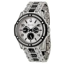 bulova crystal 98c005 men s watch watches bulova men s crystal watch