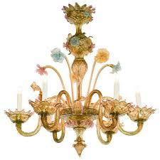 great venetian multicolored glass chandelier