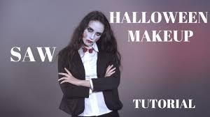 saw doll makeup halloween tutorial