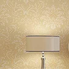 europe modern textured glitter damask wallpaper yellow beige golden living room wallpaper ideas for designs texture