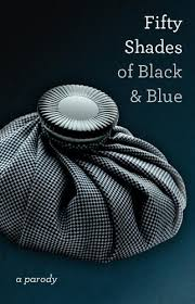 a grey hot water bottle on a grey background fifty shades of black and blue