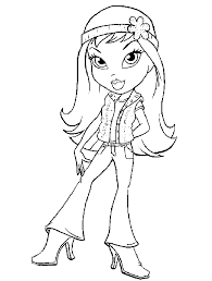 Small Picture Bratz Coloring Pages 4 Coloring Kids