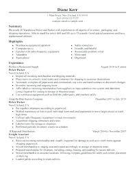 resume order of jobs order picker jobs job description resume builder objective cover