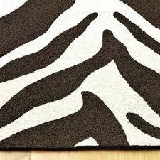 zebra brown rug brown and white zebra rug 8x10