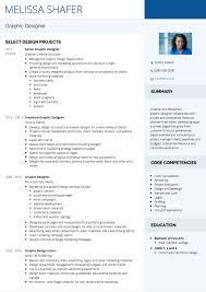 Graphic Designer Resume Magnificent Graphic Design CV Examples And Template