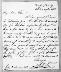 Lewis Fields Linn to Andrew Jackson, February 20, 1843 | Library of Congress