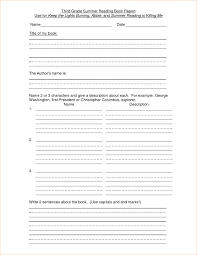 book reports for 3rd grade 2nd grade book report easy resume template