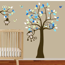 boys nursery tree and branch vinyl wall decal owls birds monkeys on baby boy nursery wall art stickers with 67 best baby s room images on pinterest bookshelves book shelves