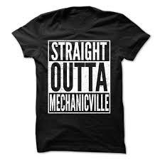T Shirt Design Ideas Straight Outta Mechanicville Premium Fitted Guys Tee