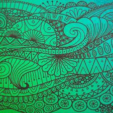 Bohemian Patterns Cool ArtGlassSupplies Etched Bohemian Tide Pattern On Thin Black