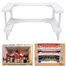 stackable storage shelves. Kitchen Rack Bathroom Shelf Stackable Storage New Multifunction Adjustable Intended Shelves