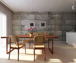 dining room wall design interior block wall covering