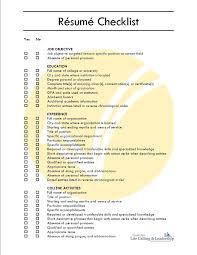 Sample College Checklist Comprehensive Resume Checklist Sample Comprehensive Resume 1