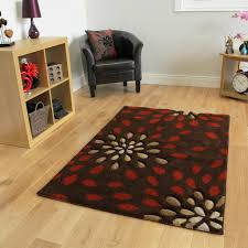 Living Room Rugs Modern Small Large Terracotta Floral Modern Rugs Soft Easy Clean Living