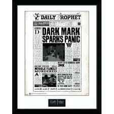 Harry Potter Newspaper Template Harry Potter Picture Frame Lightinghome Co